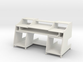 Music Desk 2 1:12 Scale  in White Strong & Flexible