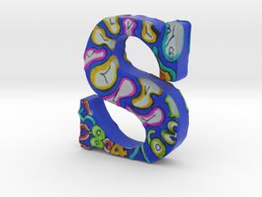 """#140 - Letter S - """"Abstract Clocks"""" - Artist's Fon in Full Color Sandstone"""