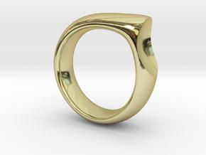 Sliver-Mens-7 in 18k Gold Plated Brass