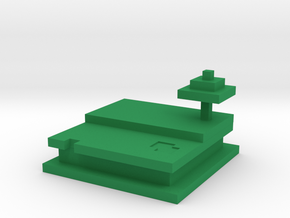 Helada's Minecraft Destination in Green Processed Versatile Plastic