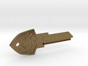 Zelda Shield House Key Blank - KW11/97 in Natural Bronze