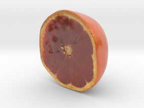 The Grapefruit-Half-mini in Glossy Full Color Sandstone
