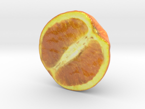 The Orange-2-Half-mini in Glossy Full Color Sandstone