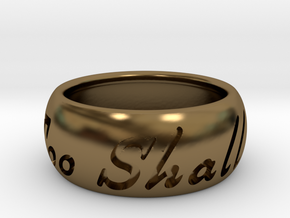 This Too Shall Pass ring size 8.5 in Polished Bronze