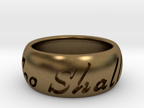 This Too Shall Pass ring size 8.5 in Natural Bronze