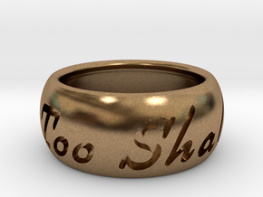 This Too Shall Pass ring size 6.5 in Natural Brass