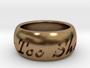 This Too Shall Pass ring size 6 in Natural Brass