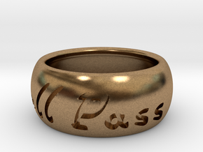 This Too Shall Pass ring size 7 in Natural Brass
