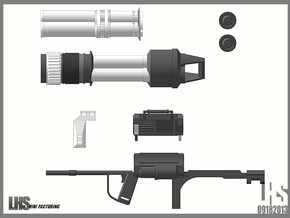 1/6 scale Rocket Launcher in White Natural Versatile Plastic