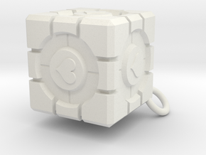 Companion Cube in White Natural Versatile Plastic