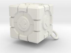 Companion Cube in White Natural Versatile Plastic