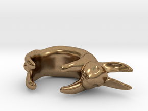 Bunny Ring in Natural Brass