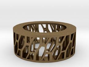 Framework Ring- Intrincate Simple in Natural Bronze