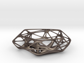 Thickened wireframe bangle in Polished Bronzed Silver Steel