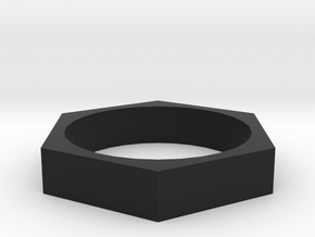 HexRing in Black Natural Versatile Plastic