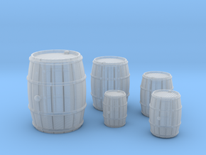 Wooden Barrels Kit in Smooth Fine Detail Plastic