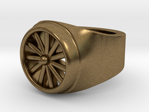 Jet Engine Ring  in Natural Bronze