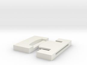 Deadpool WristBuckle-25mm in White Natural Versatile Plastic