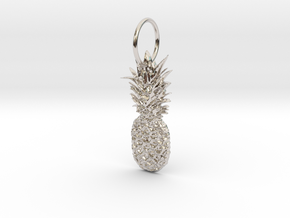 Pineapple in Rhodium Plated