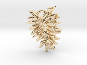 Leaf  in 14k Gold Plated Brass