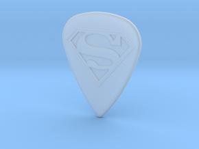Superman Guitar Pick in Smoothest Fine Detail Plastic