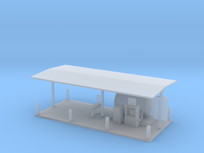 Gas Fueling Station Z Scale in Smooth Fine Detail Plastic