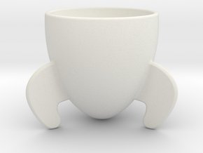 Rocket Espresso Cup in White Natural Versatile Plastic