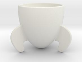 Rocket Espresso Cup in White Natural Versatile Plastic