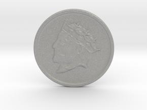 Silver Trenni Coin in Aluminum