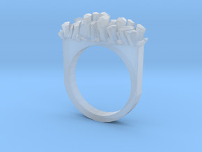 Rock Crystal Ring- Flat in Smooth Fine Detail Plastic