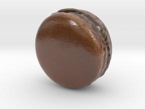 The Chocolate Macaron-mini in Coated Full Color Sandstone