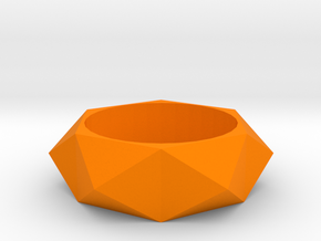 Beveled Sun Ring in Orange Processed Versatile Plastic