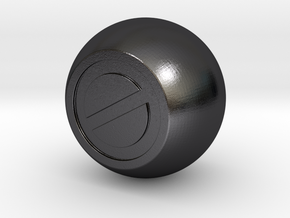 Shooter Rod Knob - Ghostbusters No Go (Ball) in Polished Grey Steel