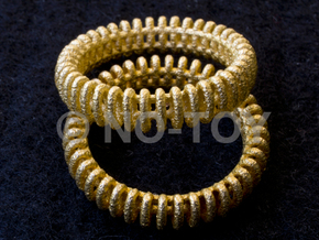 """VORTEX TWO - """"17,5mm"""" - """"54,5mm"""" - """"N"""" - """"7"""" in Polished Gold Steel"""