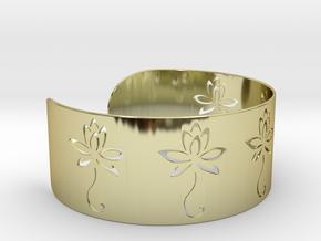 Ø2.677 inch/Ø68 mm Flower Bracelet in 18k Gold Plated Brass