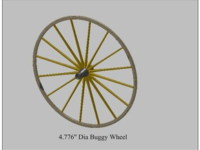 9th Scale Surrey Rear Wheel in White Strong & Flexible Polished