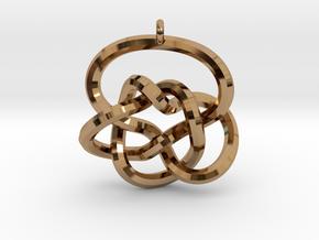 Knot Pendant (Earrings) in Polished Brass
