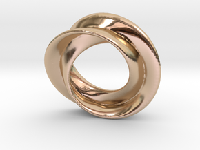 Mobius rose 26mm in 14k Rose Gold Plated Brass