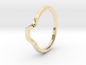 BETTER HALF Ring(HEXAGON), US size 12.5, d=22mm  in 14k Gold Plated Brass: 12.5 / 67.75