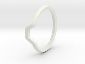 BETTER HALF Ring(HEXAGON), US size 8.5, d=18,5mm  in White Natural Versatile Plastic: 8.5 / 58