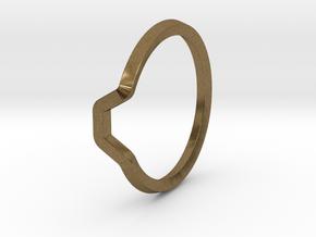 BETTER HALF Ring(HEXAGON), US size 4.5, d=15mm  in Natural Bronze: 4.5 / 47.75