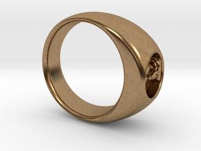 Ø0.716 inch/Ø18.19 Mm Cuddle Cat Ring in Natural Brass