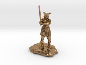 Dragonborn in Splint with Greatsword in Natural Brass