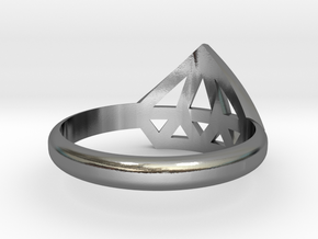 Diamant ring in Polished Silver