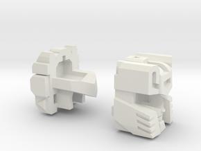 Psychotic Gunner Head G1 in White Natural Versatile Plastic