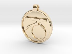 Zodiac KeyChain Medallion-CAPRICON in 14K Yellow Gold