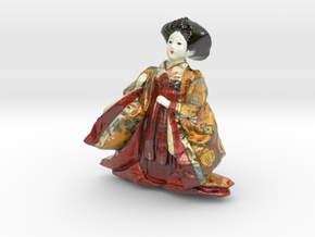 The Japanese Hina Doll-8-mini in Glossy Full Color Sandstone