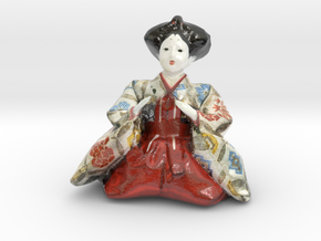 The Japanese Hina Doll-9-mini in Glossy Full Color Sandstone