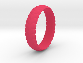 Hearts ring 15 mm in Pink Processed Versatile Plastic