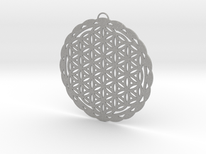Flower of Life Pendant in Aluminum